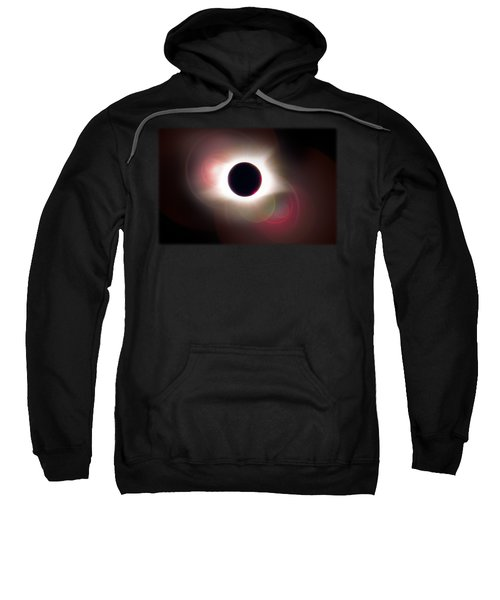 Total Eclipse Of The Sun T Shirt Art With Solar Flares Sweatshirt