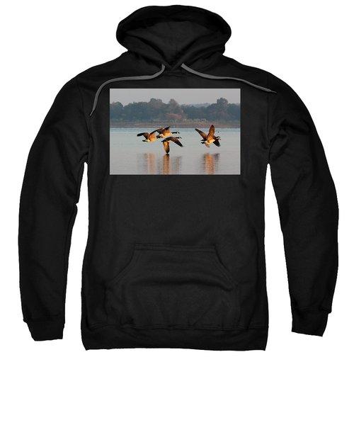 Touching Down At Sunrise Sweatshirt