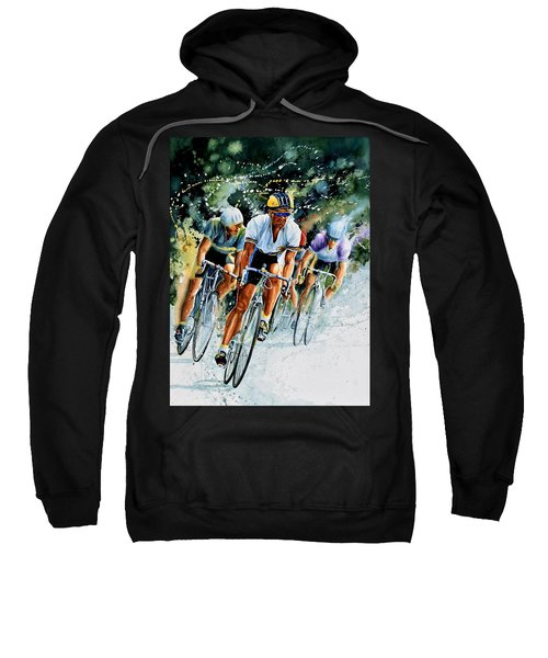 Sweatshirt featuring the painting Tour De Force by Hanne Lore Koehler