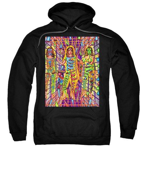 Transcendental Junction Of A Cosmic Grotto Sweatshirt