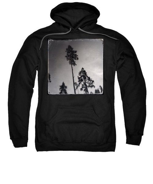 Trees Black And White Wetplate Sweatshirt