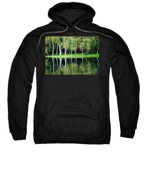 Trees Reflected In Water Sweatshirt
