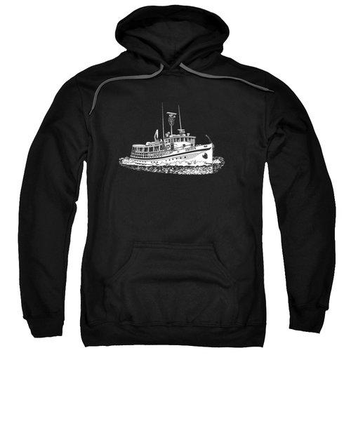 Triton 88 Foot Fantail Yacht Sweatshirt by Jack Pumphrey