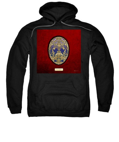 Tsarevich Faberge Egg On Red Velvet Sweatshirt