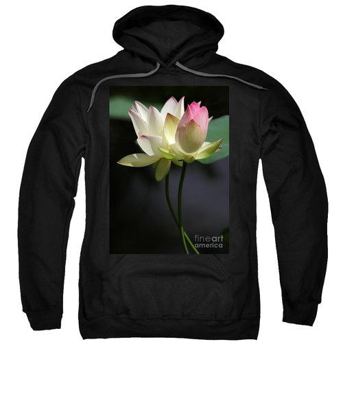 Two Lotus Flowers Sweatshirt