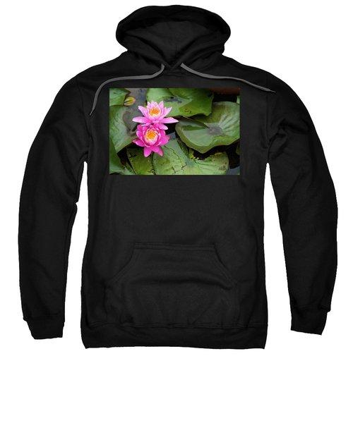 Two Pink Lilies Sweatshirt