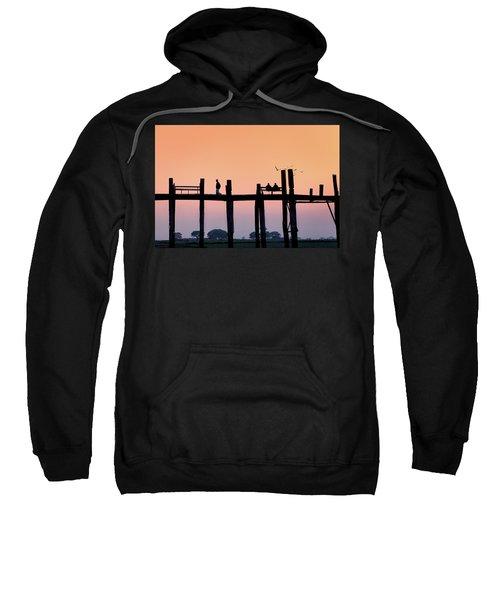 U-bein Bridge At Dawn Sweatshirt