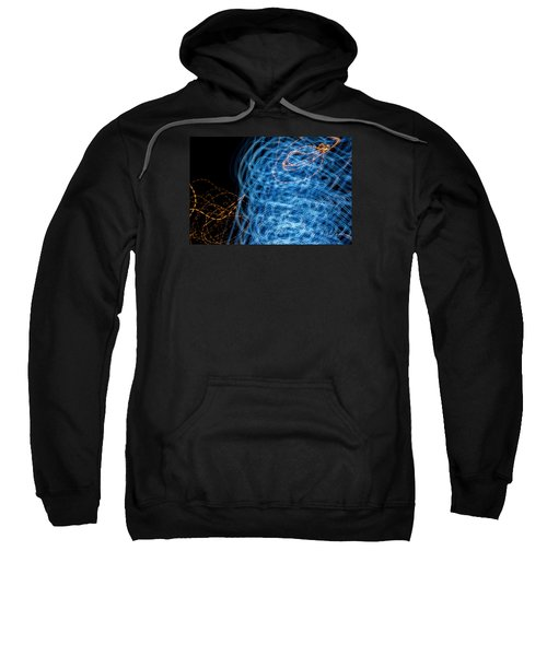 Ufa Neon Abstract Light Painting Sodium #7 Sweatshirt