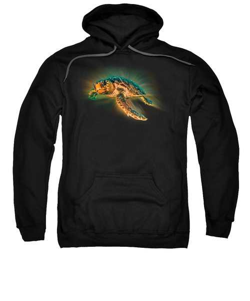 Undersea Turtle Sweatshirt by Debra and Dave Vanderlaan