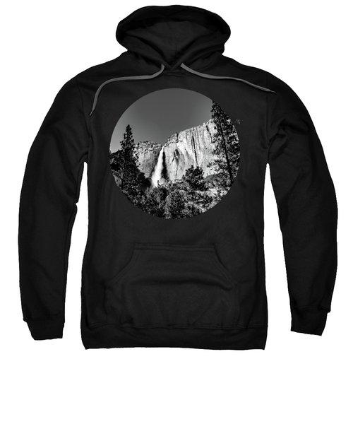 Upper Falls, Black And White Sweatshirt by Adam Morsa