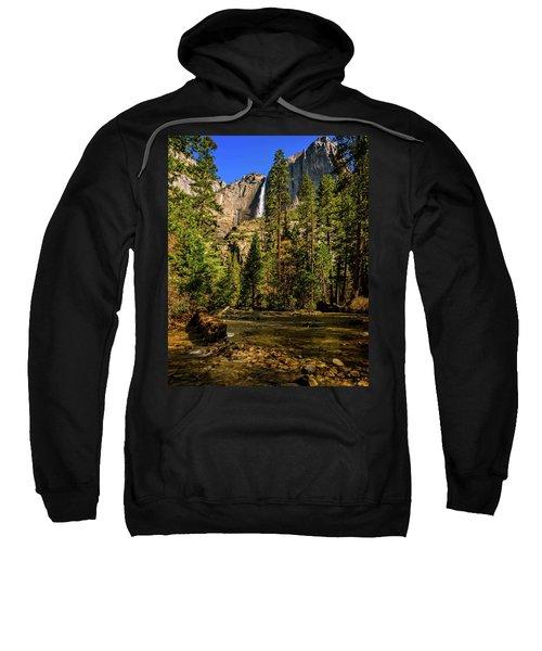 Upper Yosemite Falls From Yosemite Creek Sweatshirt