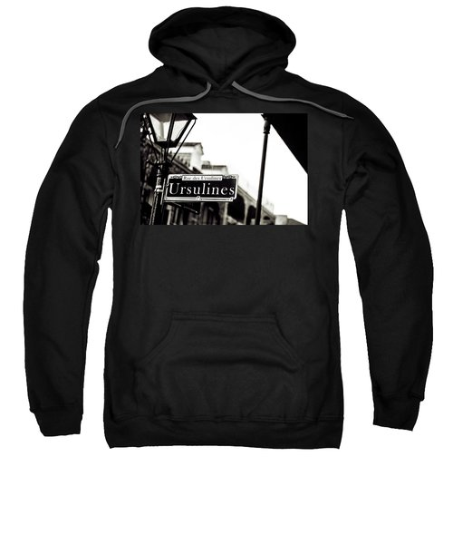 Ursulines In Monotone, New Orleans, Louisiana Sweatshirt
