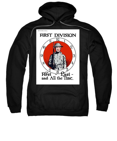 Us Army First Division - Ww1 Sweatshirt
