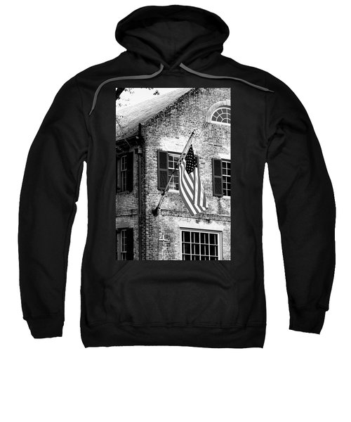 Us Flag In Colonial Williamsbug Sweatshirt