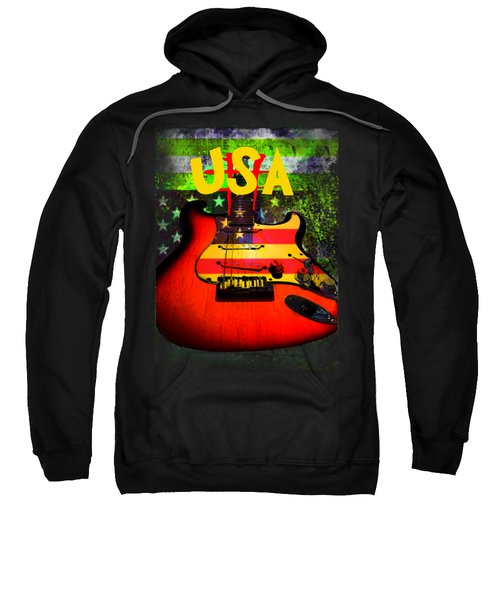 Sweatshirt featuring the photograph Usa Guitar Music by Guitar Wacky