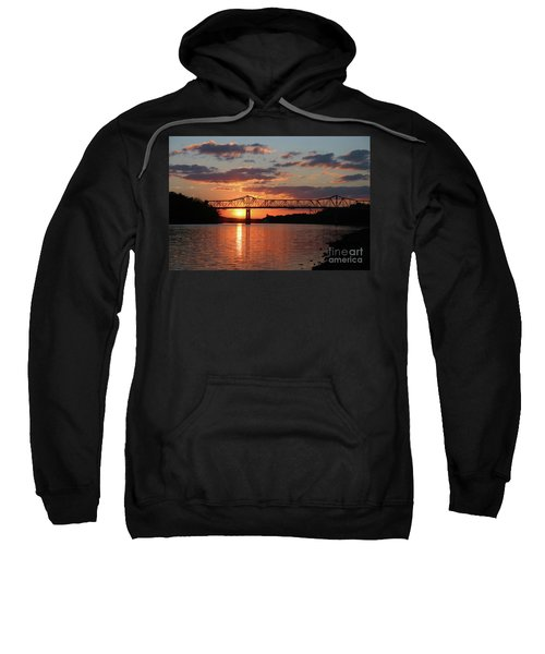 Utica Bridge At Sunset Sweatshirt