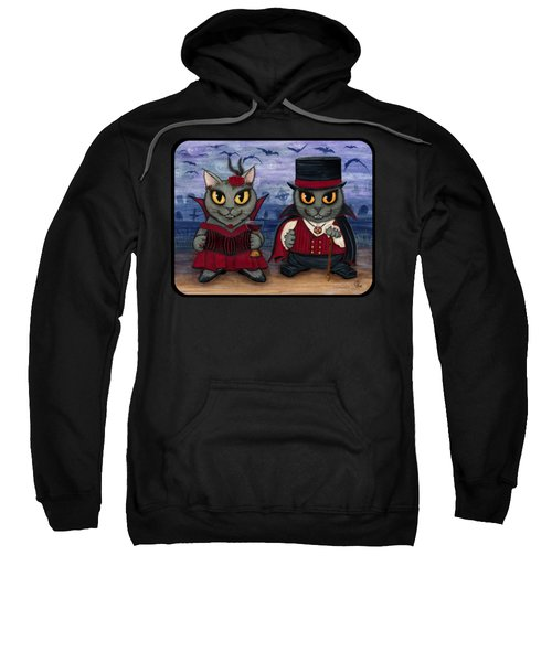 Vampire Cat Couple Sweatshirt