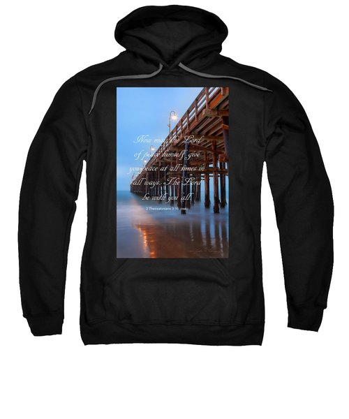 Ventura Ca Pier With Bible Verse Sweatshirt