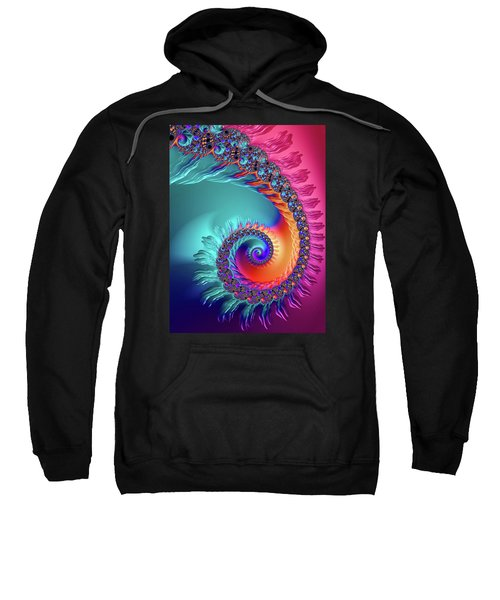 Vibrant And Colorful Fractal Spiral  Sweatshirt