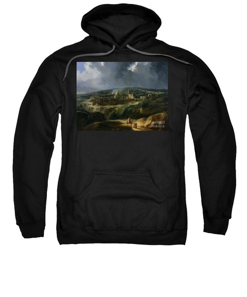 View Of Jerusalem From The Valley Of Jehoshaphat Sweatshirt