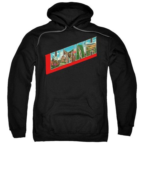 Vintage Big Letters Utah State Souvenir Sweatshirt