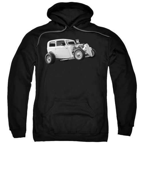 Vintage Ford Hot Rod In Black And White Sweatshirt