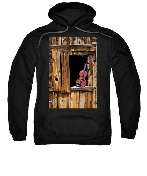 Violin In Window Sweatshirt