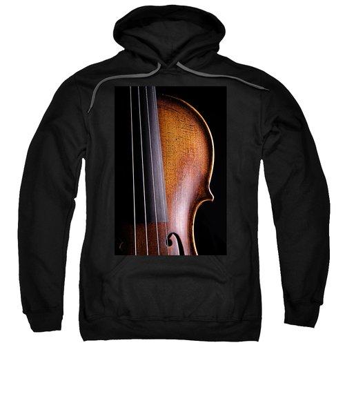 Violin Isolated On Black Sweatshirt