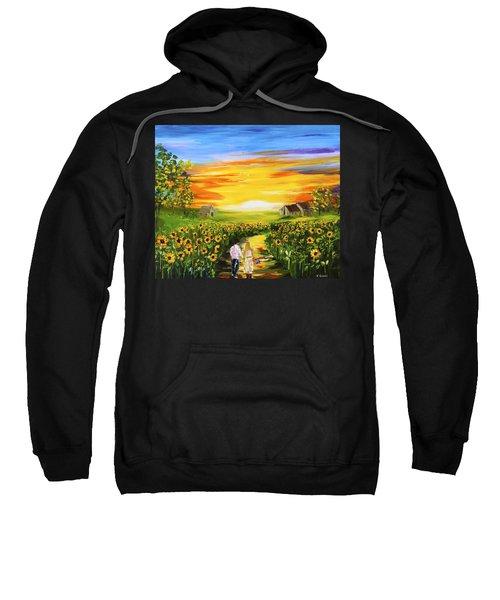 Walking Through The Sunflowers Sweatshirt