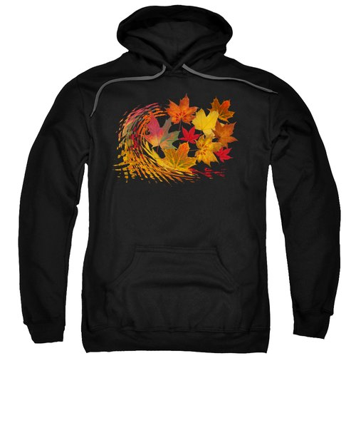 Warm Winds - Autumn Leaves Abstract Sweatshirt
