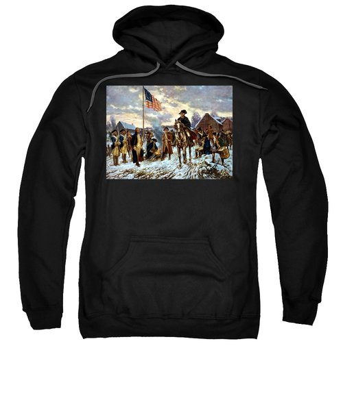 Washington At Valley Forge Sweatshirt