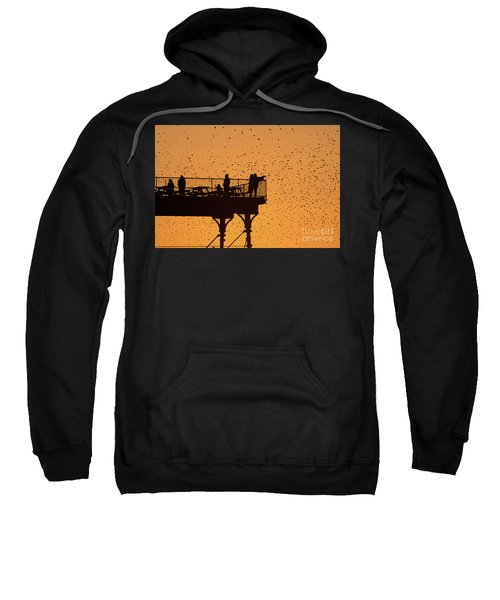 Watching The Sunset And Starlings In Aberystwyth Wales Sweatshirt