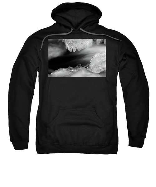 Sweatshirt featuring the photograph Water And Ice by Stephen Holst