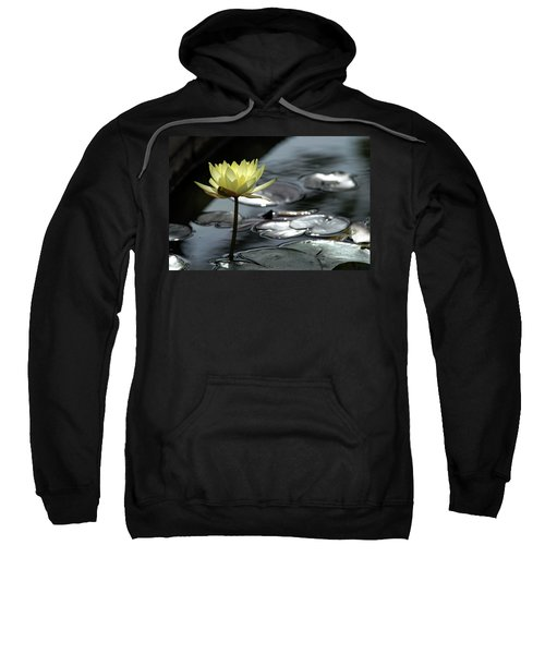 Water Lily And Silver Leaves Sweatshirt