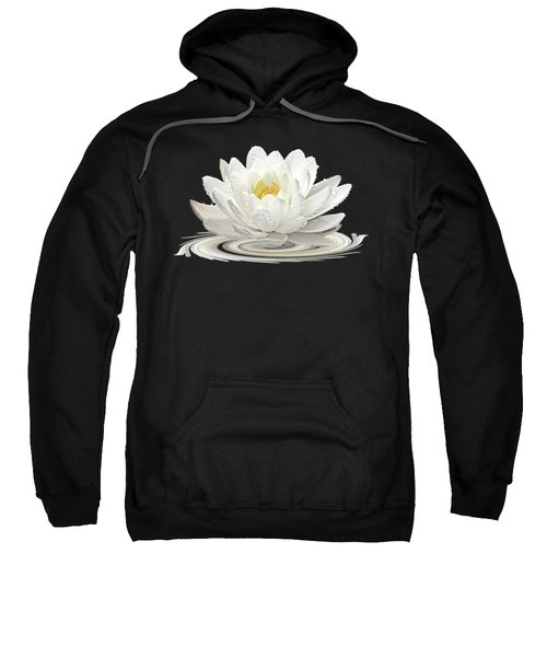 Water Lily Whirl Sweatshirt by Gill Billington