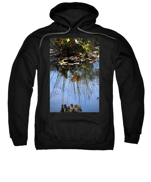 Water Reflection Of Plant Growing In A Stream Sweatshirt