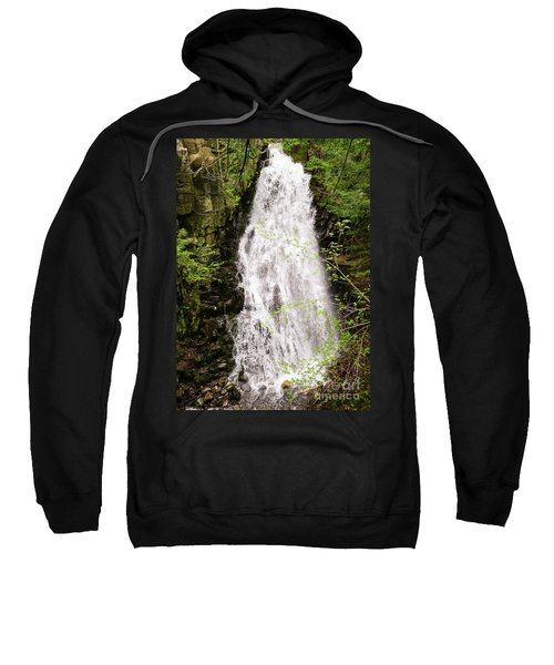 Water Roaring Down Cascade Falls, Farmington, Maine  -30377 Sweatshirt