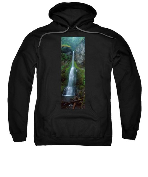 Waterfall In Olympic National Rainforest Sweatshirt