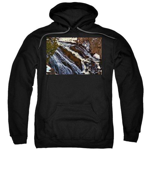 Waterfall In Yellowstone Sweatshirt