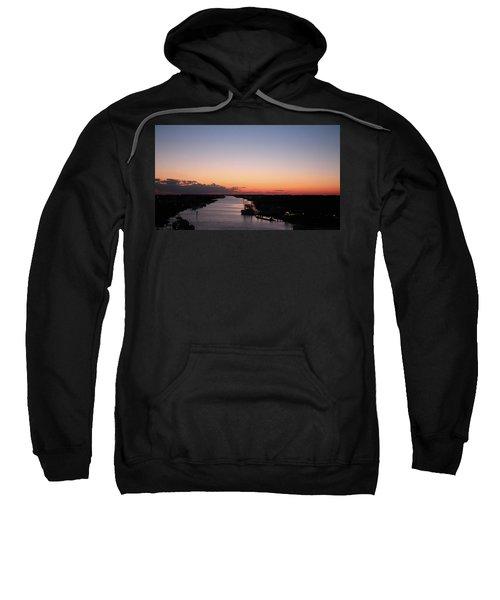 Waterway Sunset #1 Sweatshirt
