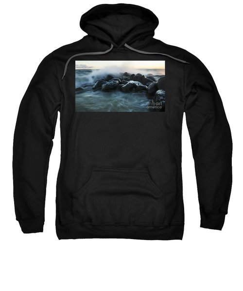 Wave Crashes Rocks 7959 Sweatshirt