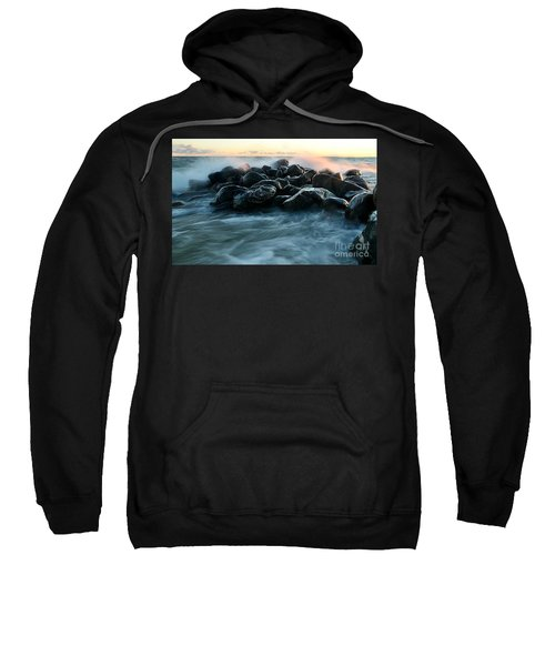 Wave Crashes Rocks 7941 Sweatshirt