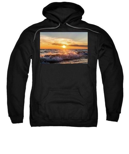 Waves Crashing With Suset Sweatshirt