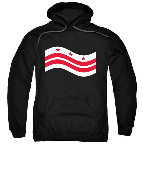 Waving District Of Columbia Flag Sweatshirt by Frederick Holiday