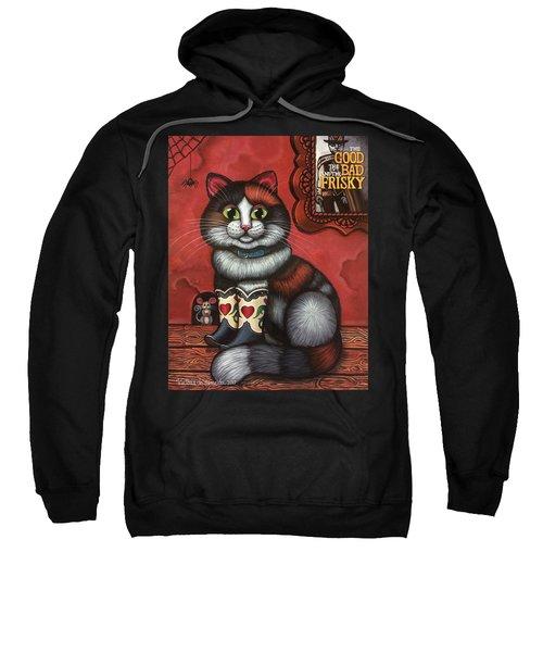 Western Boots Cat Painting Sweatshirt