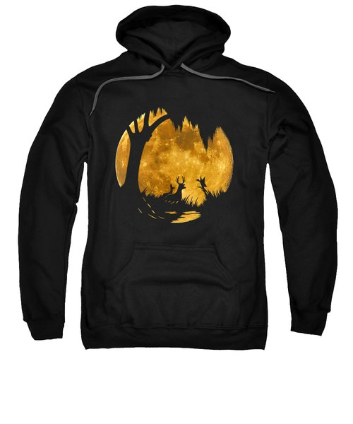 Wetland Wildlife Massive Moon .png Sweatshirt by Al Powell Photography USA