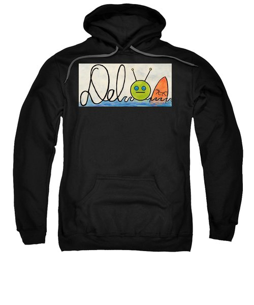 Sweatshirt featuring the painting Where The Turf Meets The Surf by Denise Railey