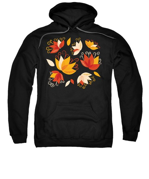 Whimsical Floral Pattern Of Abstract Lilies Sweatshirt