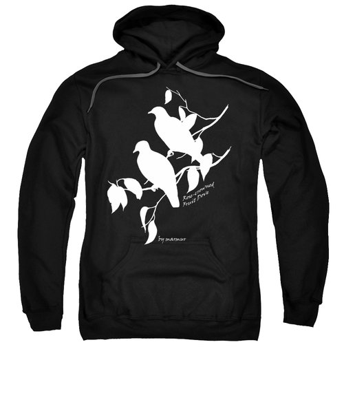 White Doves Sweatshirt by The one eyed Raven