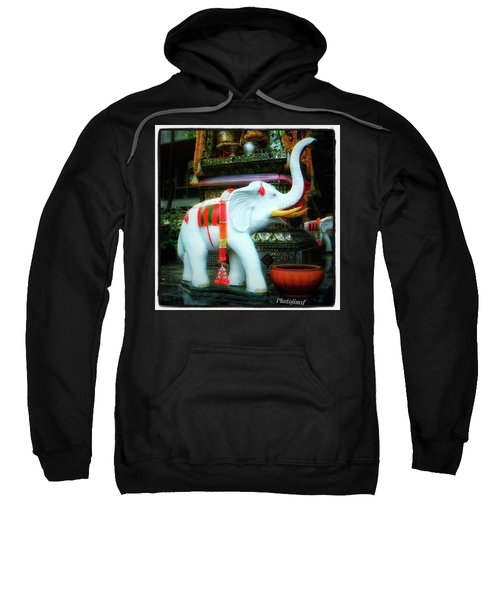 Sweatshirt featuring the photograph White Elephant. Meaning A Big Expensive by Mr Photojimsf